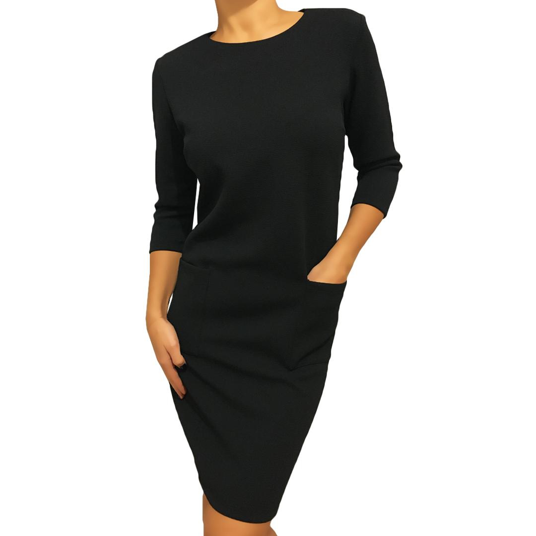 e168df2d Czarna Sukienka z Kieszeniami 2290-04-A